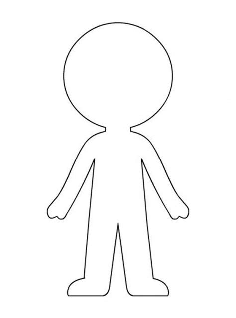 Paper Doll Template - Best Coloring Pages For Kids   Paper