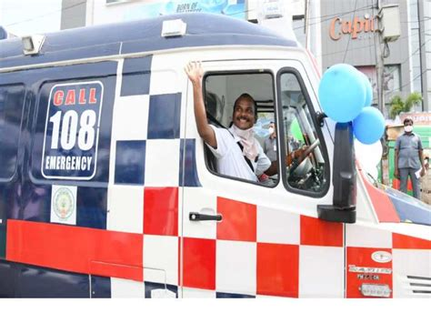 1068 ambulances of 108, 104 helpline flags off in Andhra