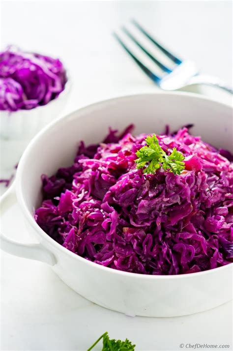 Braised Red Cabbage Recipe | ChefDeHome