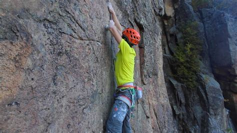 Rock Climber Takes a Huge Fall : videos